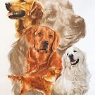 Golden Retriever /Ghost by BarbBarcikKeith