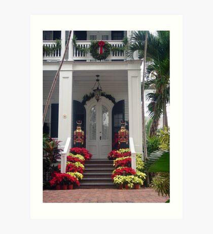 Pretty Christmas Deco in Key West, FL Art Print