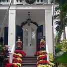 Pretty Christmas Deco in Key West, FL by Susanne Van Hulst