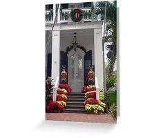Pretty Christmas Deco in Key West, FL Greeting Card