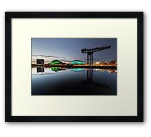 Glasgow River Clyde Reflection Framed Print
