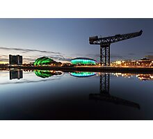 Glasgow River Clyde Reflection Photographic Print