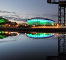 Glasgow River Clyde Reflection Sticker