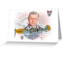 "Oberleutnant Josef ""Pips"" Priller Greeting Card"