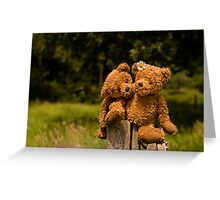 Bear couple in love Greeting Card
