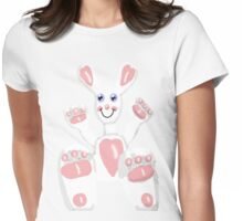 Valentine Bunny  Womens Fitted T-Shirt