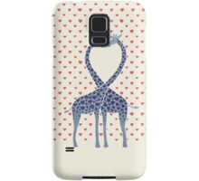 Giraffes in Love - A Valentine's Day Illustration Samsung Galaxy Case/Skin