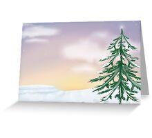 Christmas Snowscape Card Greeting Card