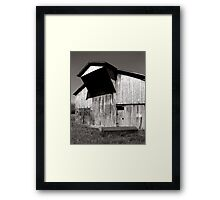 Barn with casket Framed Print