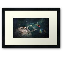 """The Moon""  Illustration M.Konecka for ""Destin de carte postale"" Framed Print"
