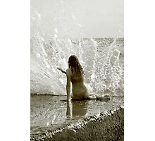 Playing the Water Harp Photographic Print