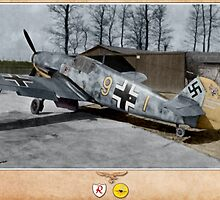 Messerschmitt Bf109 F-2 - Oblt. Siegfried Schnell by A. Hermann