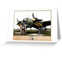 Junkers Ju 88 with Crew Greeting Card