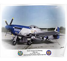 "North American P-51 ""Petie 2nd"" Poster"
