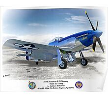"North American P-51 ""Sweet Lovely"" Poster"