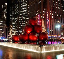 Merry New York Christmas holiday card by Nancy de Flon