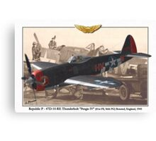 Republic P - 47D-10-RE Thunderbolt Canvas Print