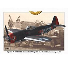 Republic P - 47D-10-RE Thunderbolt Photographic Print