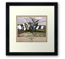 D-Day Invasion Stripes Framed Print