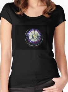 A Dazzling Stained Glass Jewel Emerging From the Darkness Women's Fitted Scoop T-Shirt