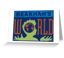 Beakman's World tv show design. Greeting Card