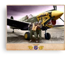 Pilots of the 11th Fighter Squadron Canvas Print