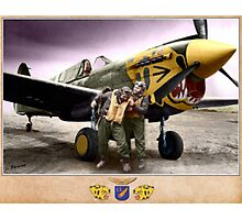 Pilots of the 11th Fighter Squadron Photographic Print