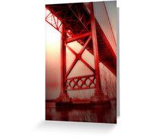 bridge to oblivion Greeting Card