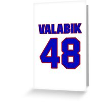 National Hockey player Boris Valabik jersey 48 Greeting Card