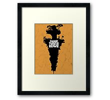 Plastic Beach Framed Print