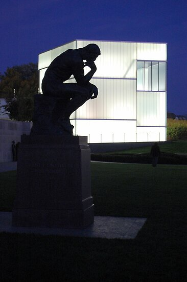 Twilight Outside the Nelson Atkins Museum by Alexander Greenwood