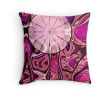 Timeless Eye, Pink Throw Pillow
