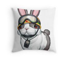 Rescue Rabbit Shirt Throw Pillow