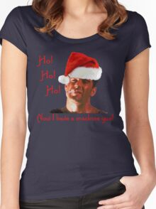 Ho Ho Ho Hard Women's Fitted Scoop T-Shirt