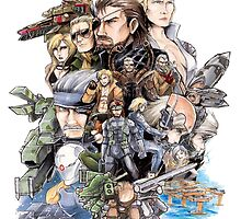 Metal Gear 25th anniversary by toenes524