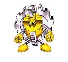 Yellow Gadget Shirt Photographic Print