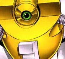 Yellow Gadget Shirt Sticker