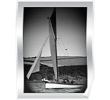 Traditional Cornish Sailing Vessel Poster