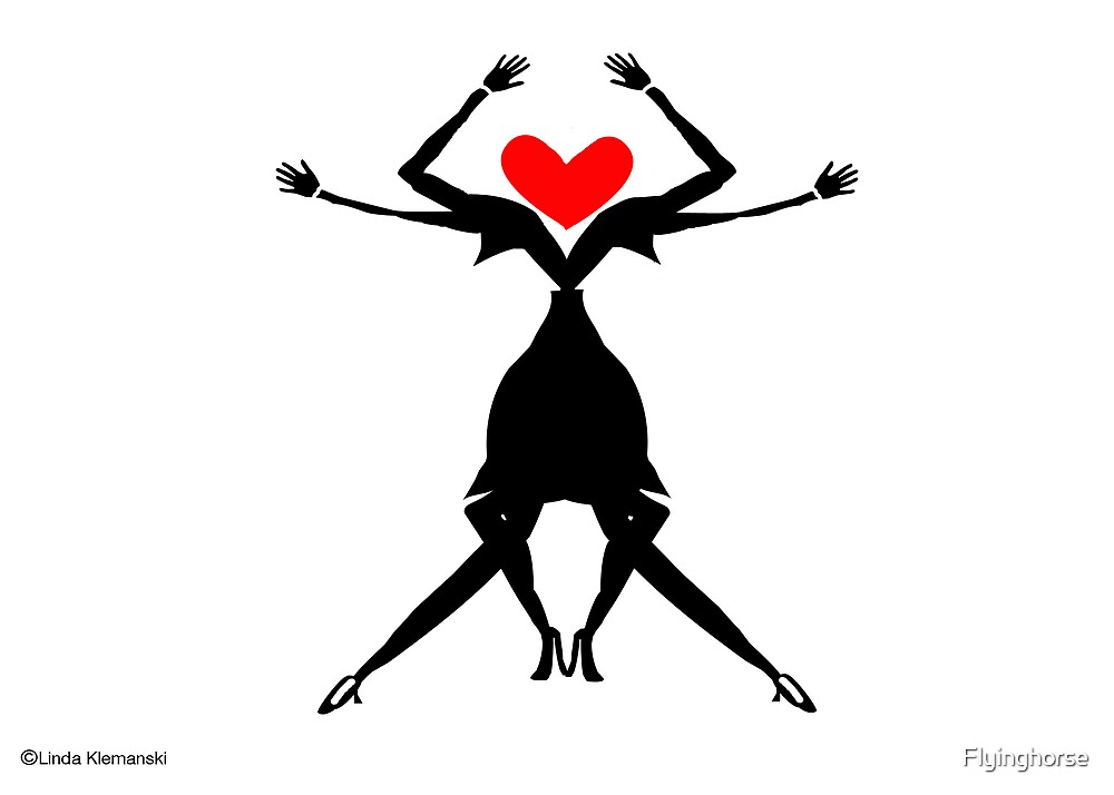 2 Woman Dancing by Flyinghorse