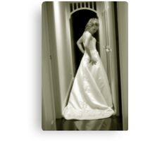 The gown Canvas Print