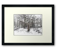 SNOW SCENE 7 Framed Print