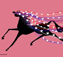 Horse with Valentine Veil by Flyinghorse