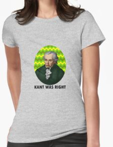 Kant Womens Fitted T-Shirt