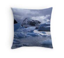 Portage Glacier Throw Pillow