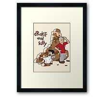 Drake and Sully Framed Print