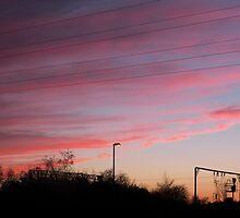 Sunset over Stoke-on-Trent by AJAY HERD