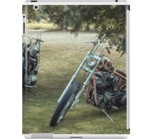 Choppers under mountain ashes iPad Case/Skin