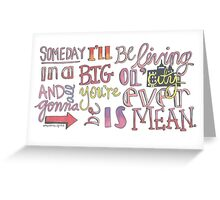 Mean- Taylor Swift Greeting Card