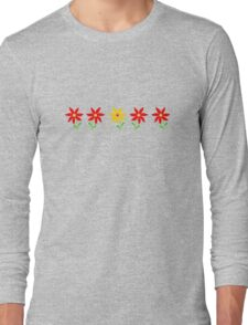 Flowers in a Row Long Sleeve T-Shirt