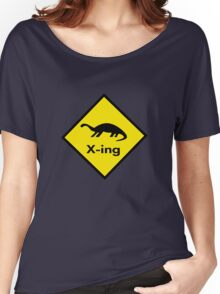 Dinosaur Crossing Women's Relaxed Fit T-Shirt